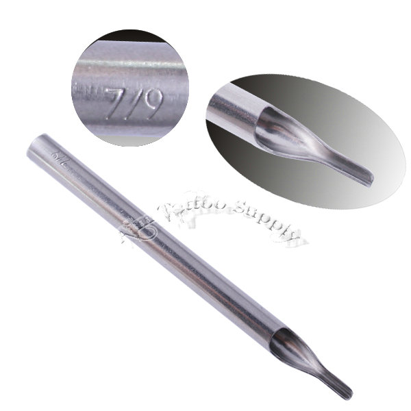 High Polishing  304 Stainless Steel Philip Long Tattoo Tips 7-9RT