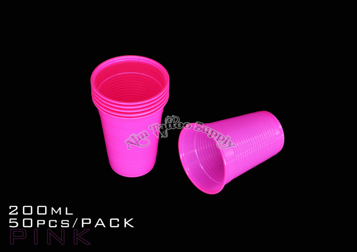 Pink Tattoo Disposable Rinse Cup