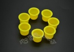 Yellow Plastic Tattoo Ink Cup With Professional Package