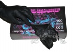 New Black Snake King Latex Tattoo Gloves