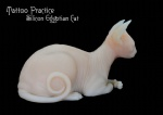 Tattooable Silicone Sphynx Cat